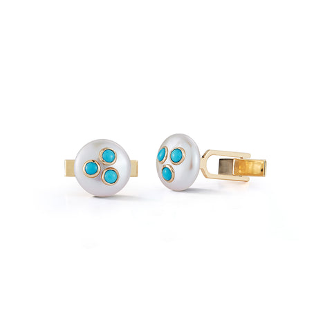 Les Perles Turquoise Cuff Links
