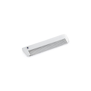 Sterling Silver Comb with Blue Sapphire