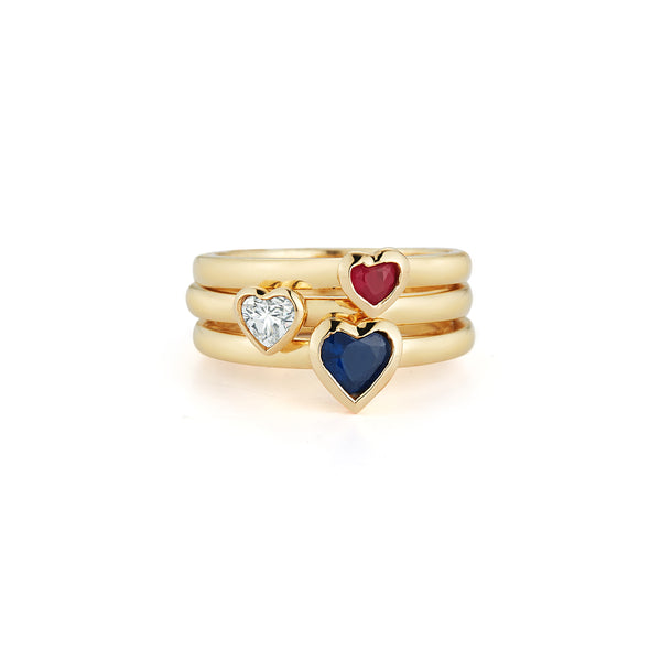 Les Classiques Sapphire Heart Pinky Ring
