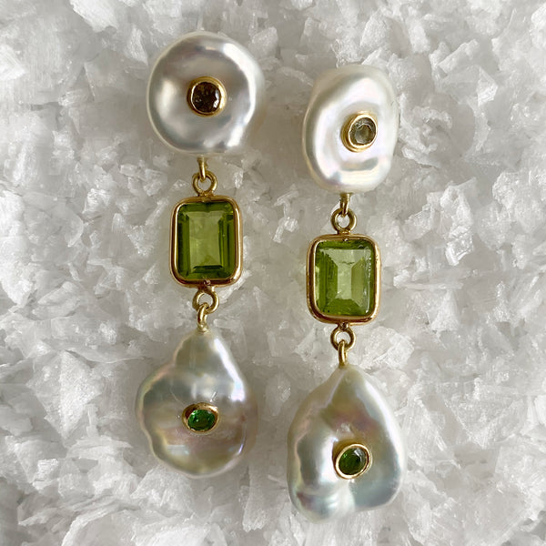 Les Perles Gem Drop Earrings