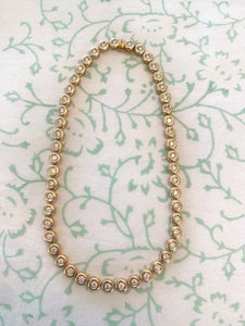 Donut Diamond Bezel Tennis Necklace