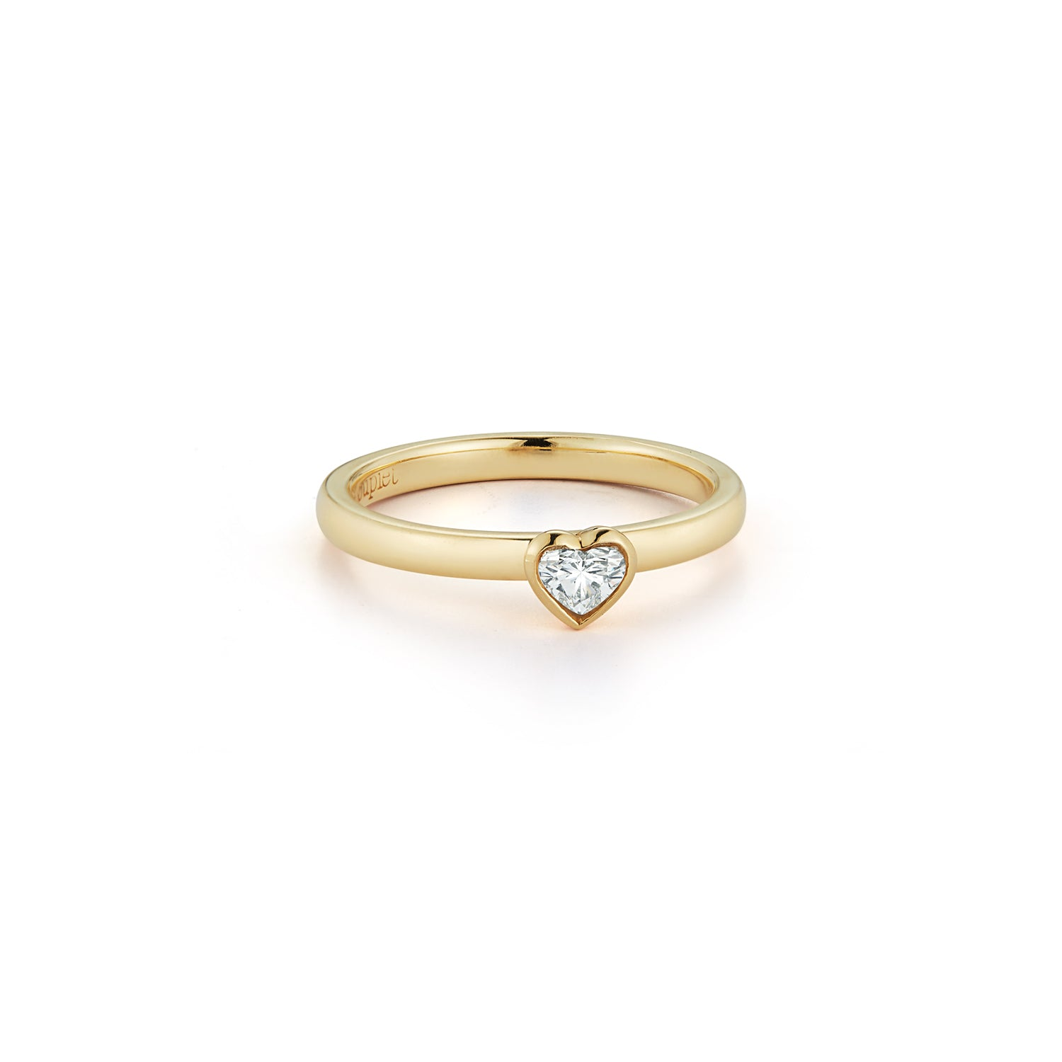 Les Classiques Diamond Heart Pinky Ring