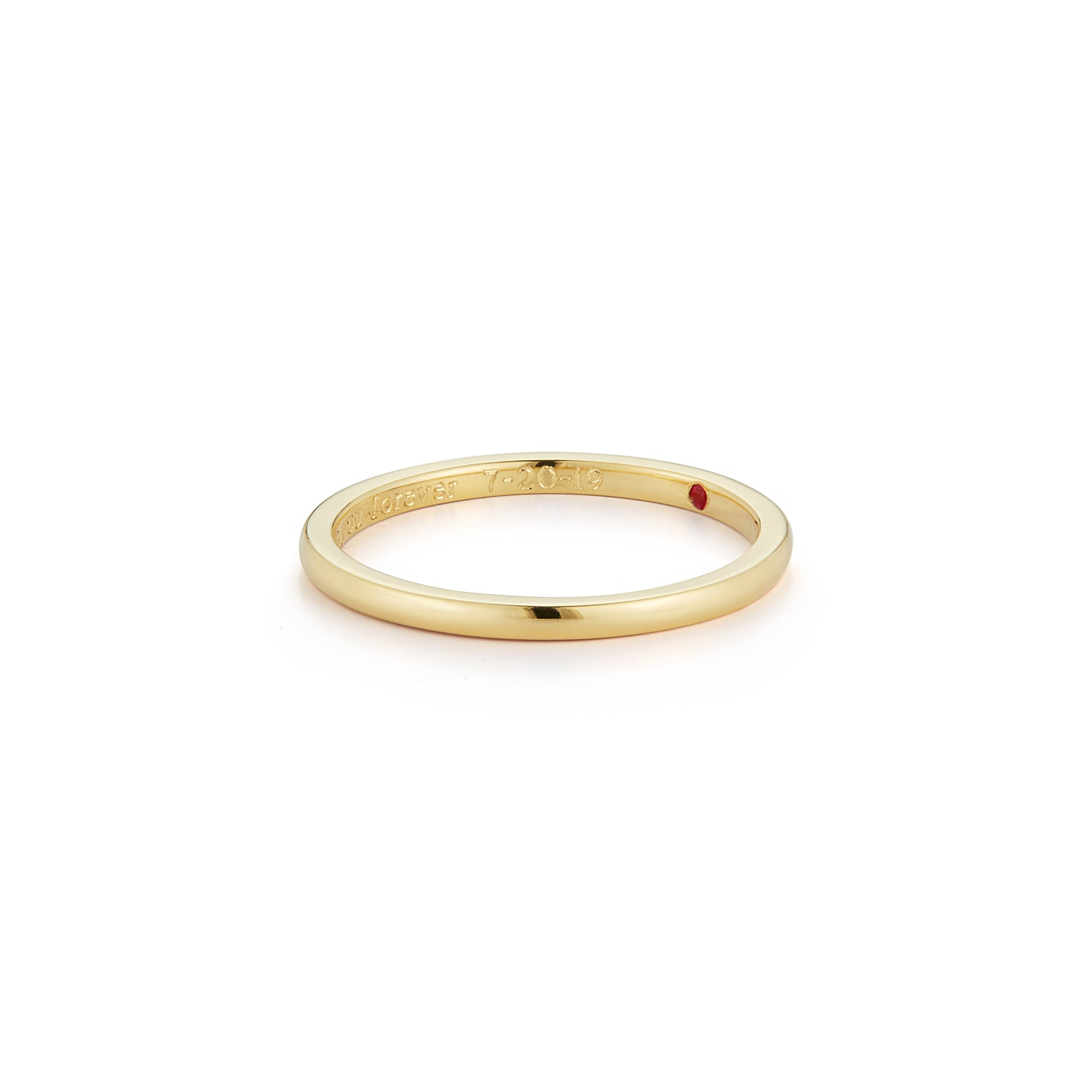 Les Classiques Thin Gold Wedding Ring