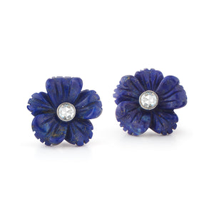 Flex Fleurs Rose Cut Diamond Earrings