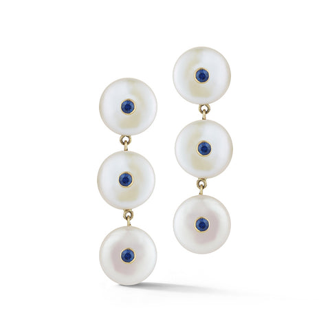 Les Perles Three Drop Earring