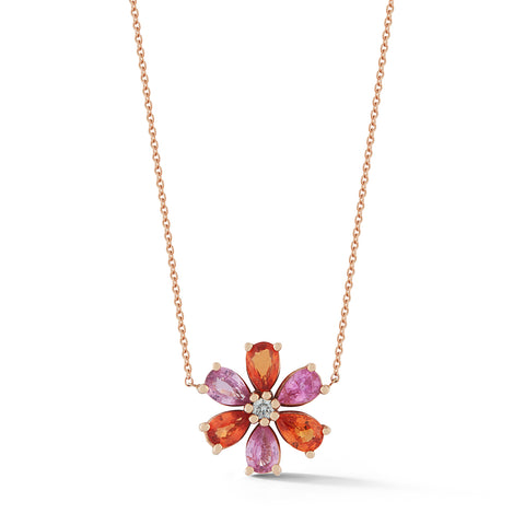 Les Fleurs Sapphire and Diamond Necklace