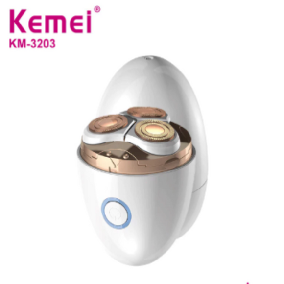 Electric Epilator USB Rechargeable Eggshell Shaver Beard Razor Kemei KM-3203