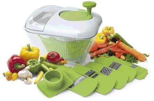All In One Salad Bowl 5 Blades Kitchen Grater Slicer Chopper - DaZzoOL