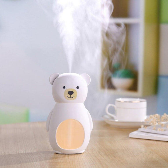 Cute Bear Humidifier LED Light personalized creative cartoon teddy bear - DaZzoOL