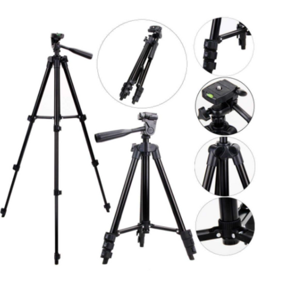 Stand For Phone And Camera Adjustable Aluminum Alloy Tripod Holder 3120