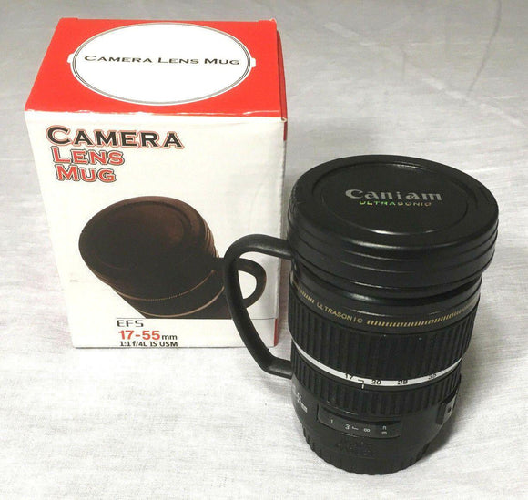 Camera Lens Tea Cup Mug w Handle EFS 17-55mm - DaZzoOL