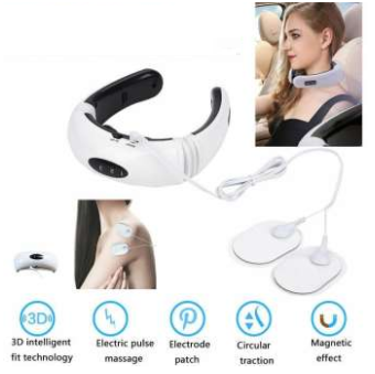 Electric Pulse Massage, Cervical Vertebra Physiotherapy Instrument - DaZzoOL