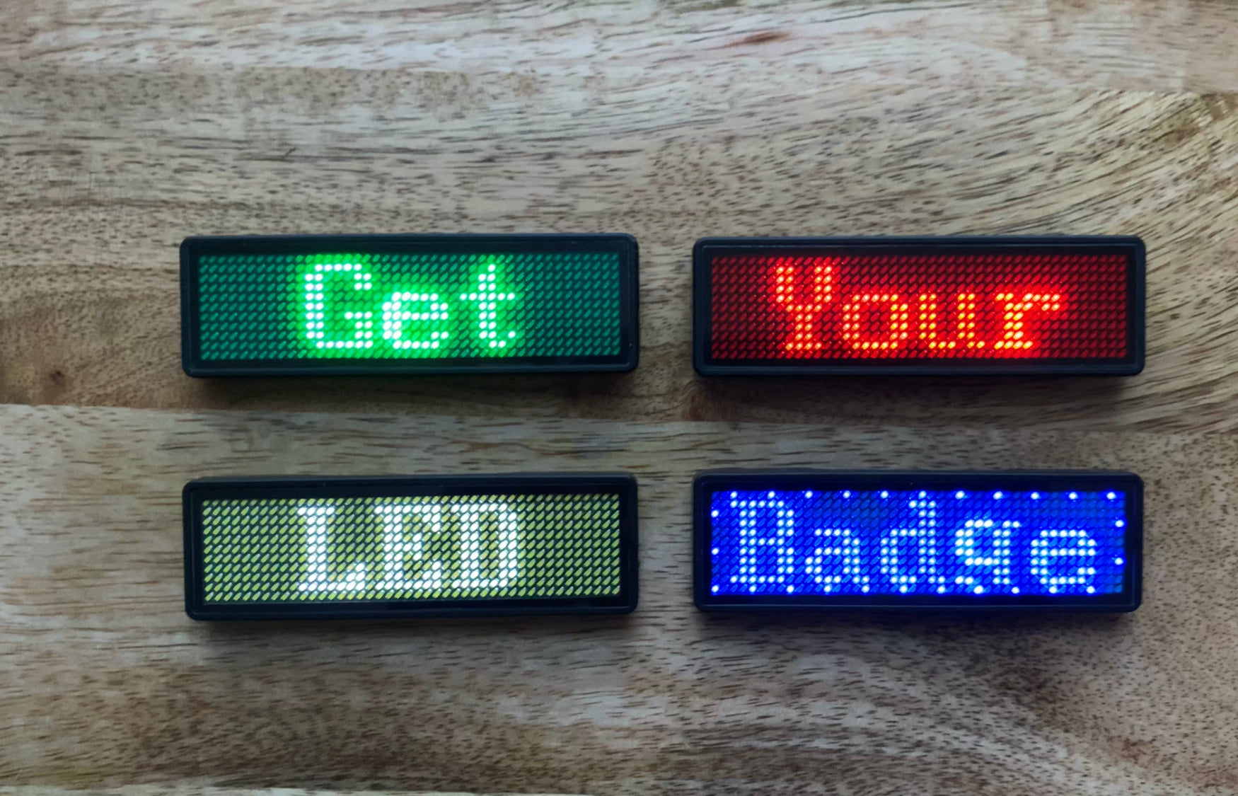 LED Name Badge Colors