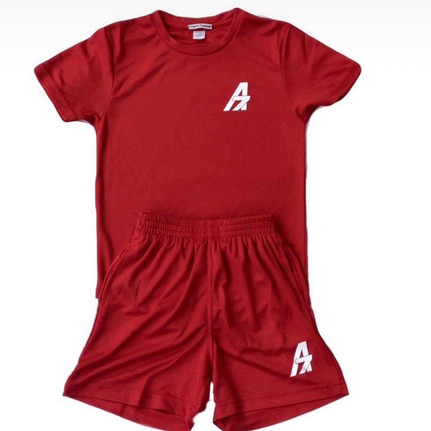 A7Asher children's Football Performance Training Kit - Red