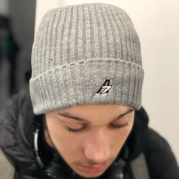 A7 Asher Beanie - Grey with A7 logo