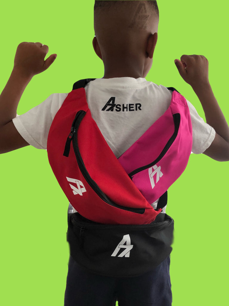 A7Asher A7 Logo Black Belt Bag