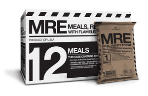 PRE-ORDER | MRE 12-Pack 3-Course w/ Flameless Ration Heaters