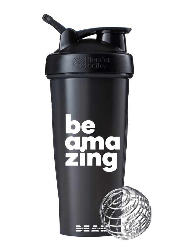 beam be amazing blender shaker bottle black color