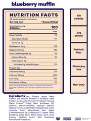 best tasting vegan protein blueberry muffin beam be amazing nutrition facts