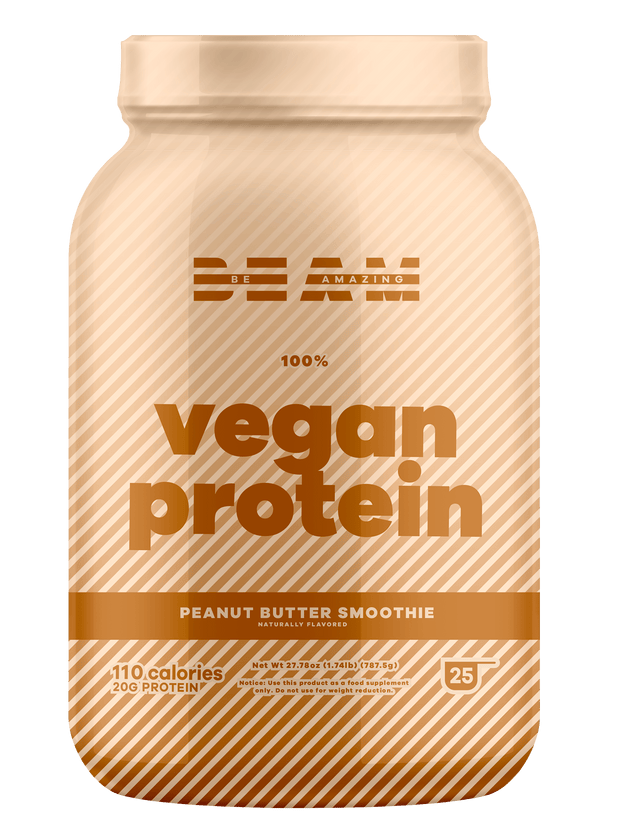 beam be amazing best tasting vegan protein peanut butter smoothie