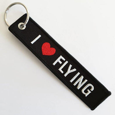 I LOVE FLYING Keyring