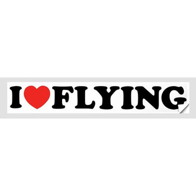 I LOVE FLYING Sticker
