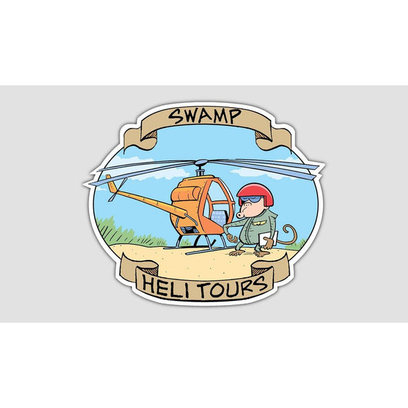SWAMP® HELI TOURS Sticker