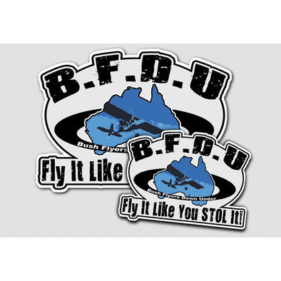 BUSH FLYERS DOWN UNDER (BFDU) Sticker Pair