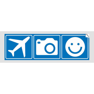 PLANE CAMERA SMILE Sticker