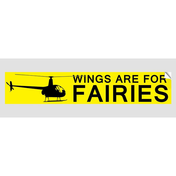WINGS ARE FOR FAIRIES Sticker
