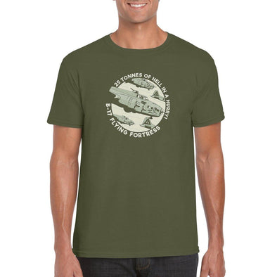 "B-17 FLYING FORTRESS ""25 TONNES OF HELL IN A HURRY!"" T-Shirt"