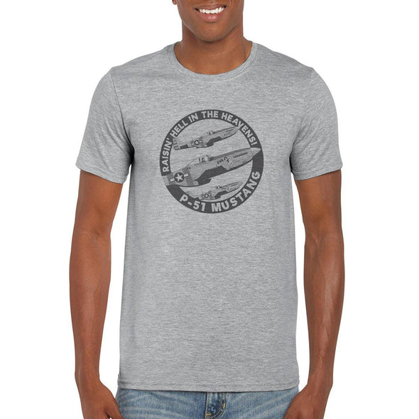 "P-51 MUSTANG ""RAISIN' HELL IN THE HEAVENS"" T-Shirt"