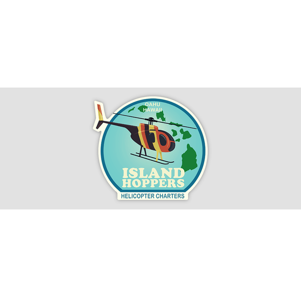 ISLAND HOPPERS HELICOPTER CHARTERS Sticker