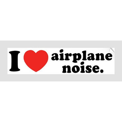 I Love Aeroplane Noise Sticker