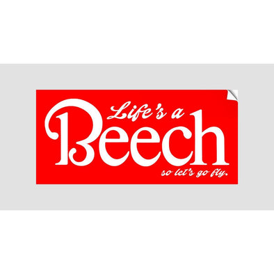Life's A Beech Sticker