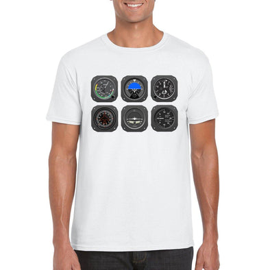 THE PILOT's 6 PACK Unisex Semi-Fitted T-Shirt