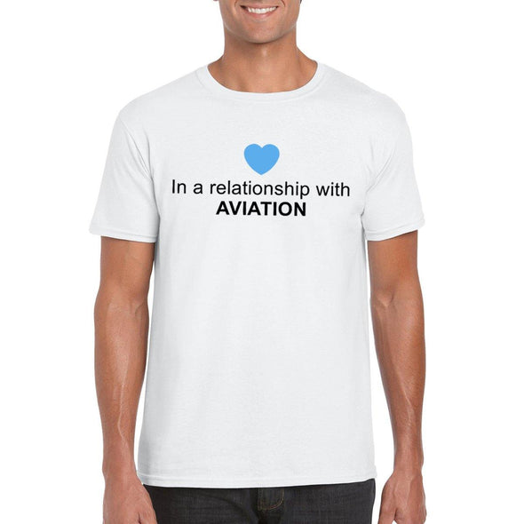 IN A RELATIONSHIP WITH AVIATION Unisex Semi-Fitted T-Shirt