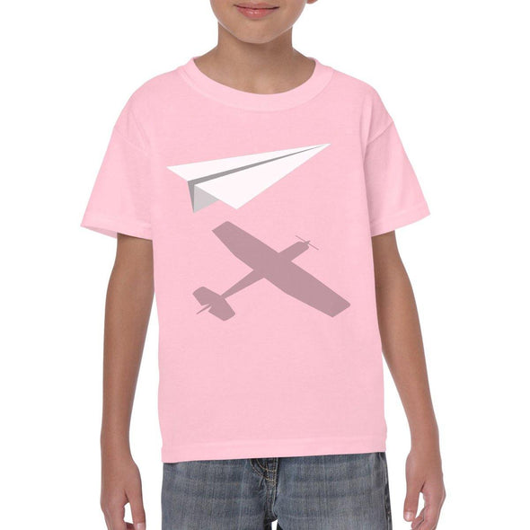 PAPER PLANE Youth Semi-Fitted T-Shirt