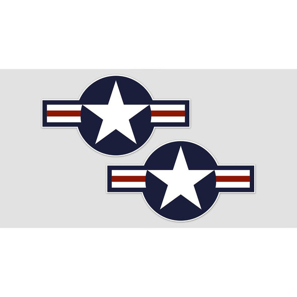 "USAF ""STAR AND BARS"" Sticker (pair)"