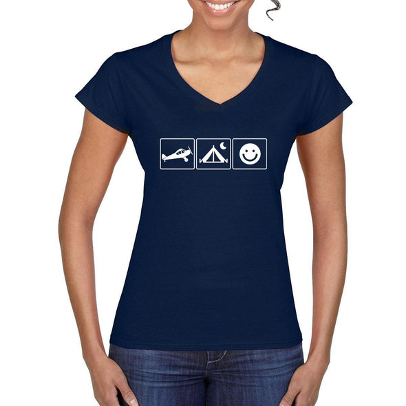 THE HAPPY BUSH PILOT Women's Semi-Fitted T-Shirt