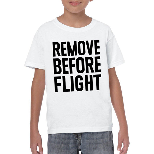 REMOVE BEFORE FLIGHT Youth Semi-Fitted T-Shirt