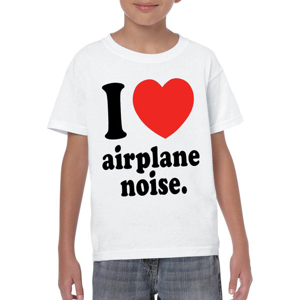 I LOVE AEROPLANE NOISE Youth Semi-Fitted T-Shirt