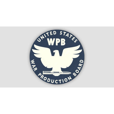 WAR PRODUCTION BOARD (WPB) Sticker