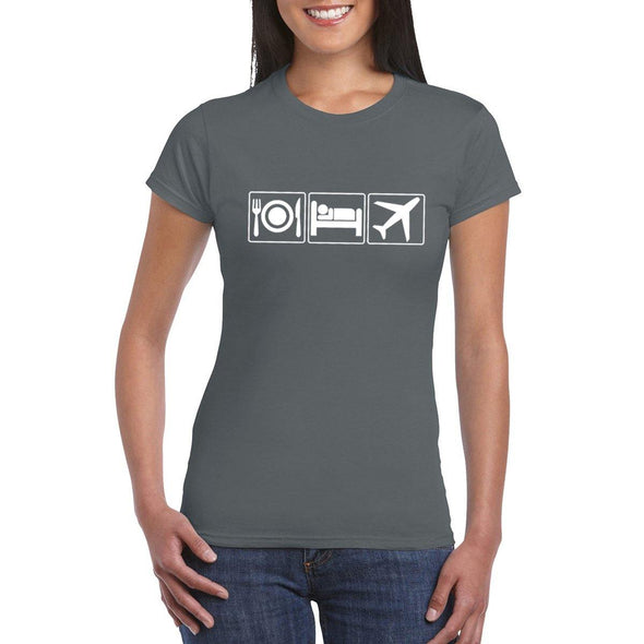 EAT SLEEP FLY Semi-Fitted Women's T-Shirt