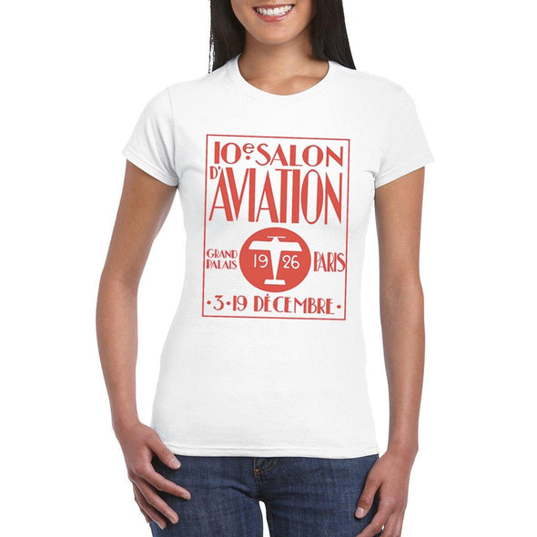SALON D AVIATION Semi-Fitted Women's T-Shirt