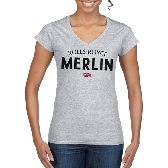 Women's MERLIN Semi-Fitted V-Neck T-Shirt