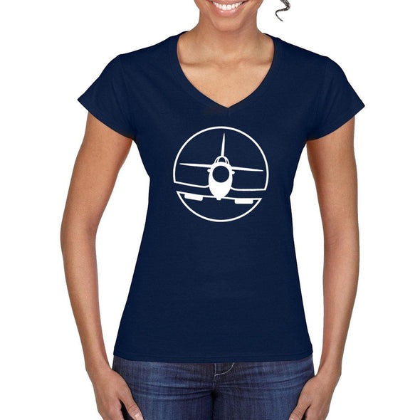 SPITFIRE Women's V-Neck Semi-Fitted T-Shirt