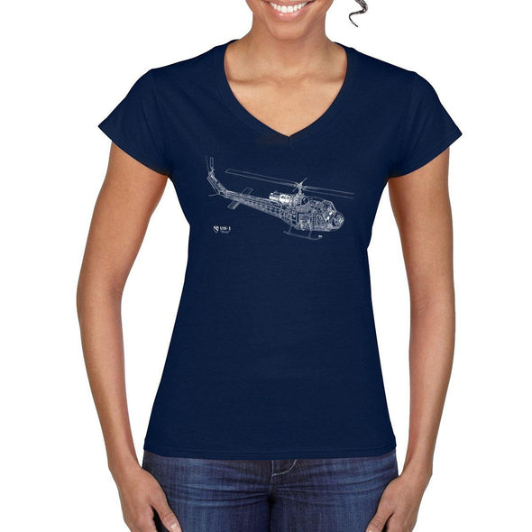 HUEY CUTAWAY Women's Semi-Fitted V-Neck T-Shirt