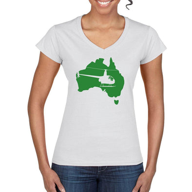 FLY AUS R22 Women's Helicopter Tee