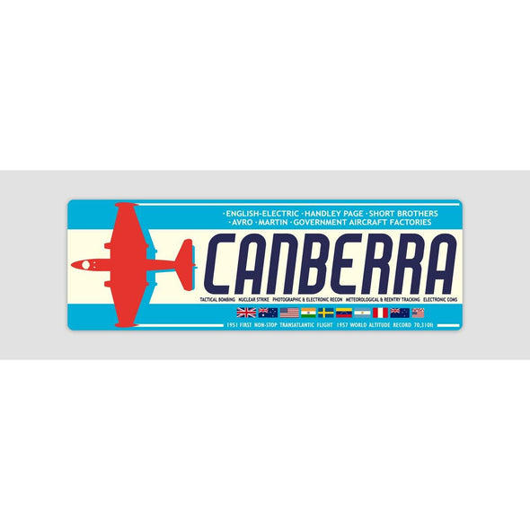 "CANBERRA ""ROLL OF HONOUR"" Sticker"